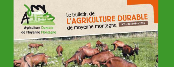 Edito Bulletin de l'Agriculture Durable de Moyenne Montagne